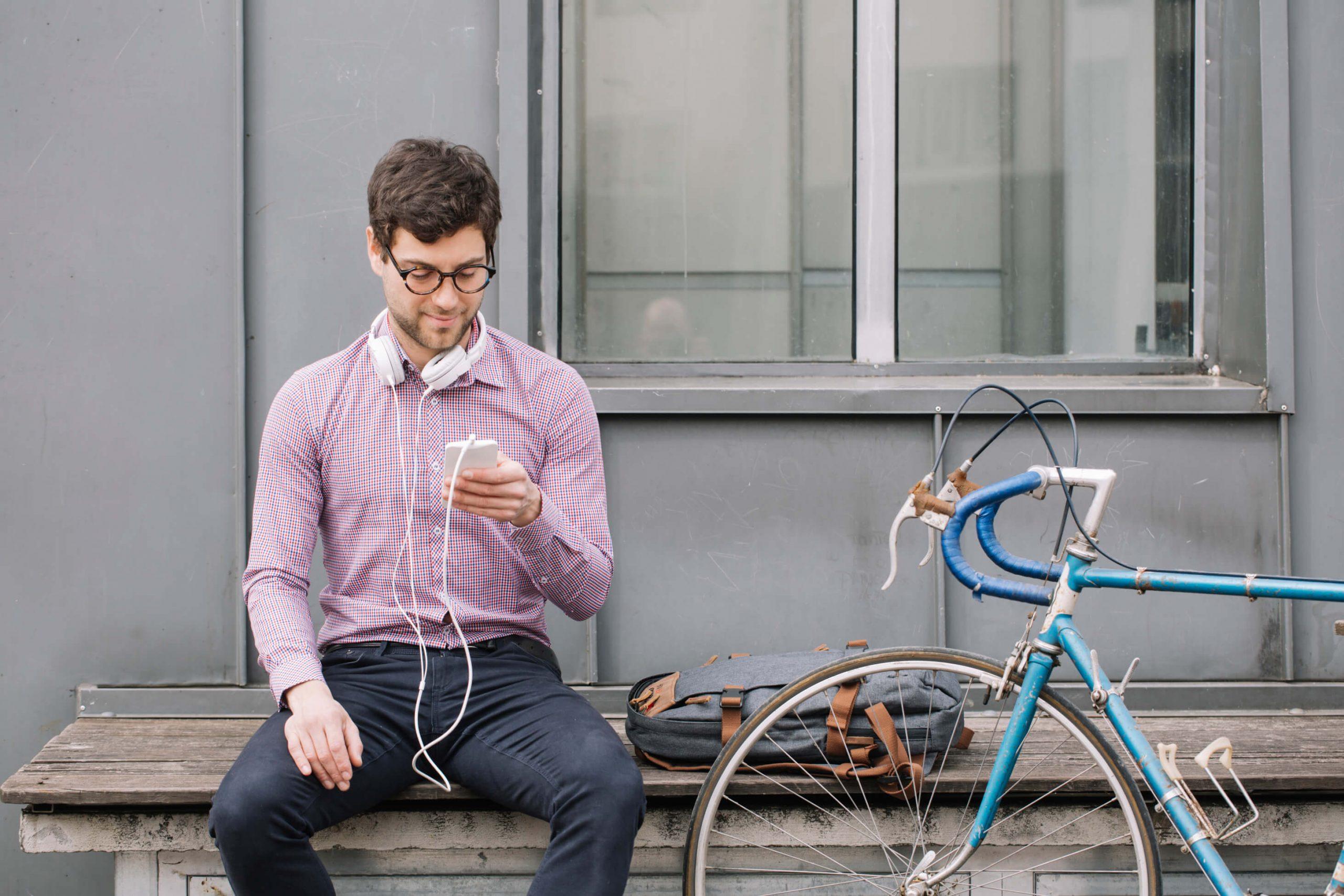 Bike shop POS happy customers